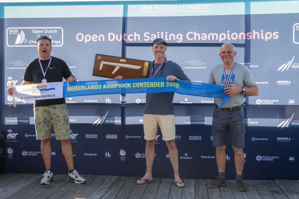 Foto: Podium Contender vlnr: Paul Verhallen (2), Dirk Lafleur (1), Rene Heinen (3)
