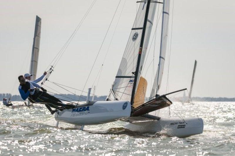 foto: Van Dijk en De Waard in de F18 (foto Klaas Wiersma)