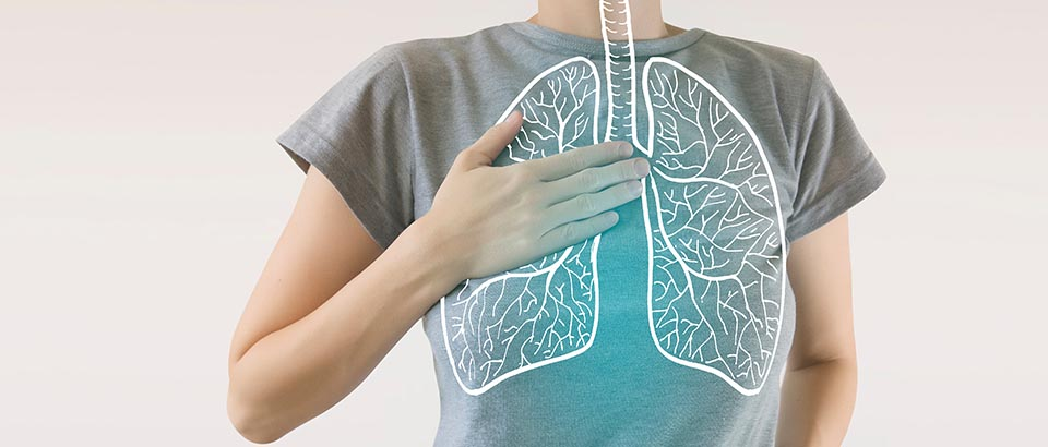 an illustration of lungs overlaid on a person's chest