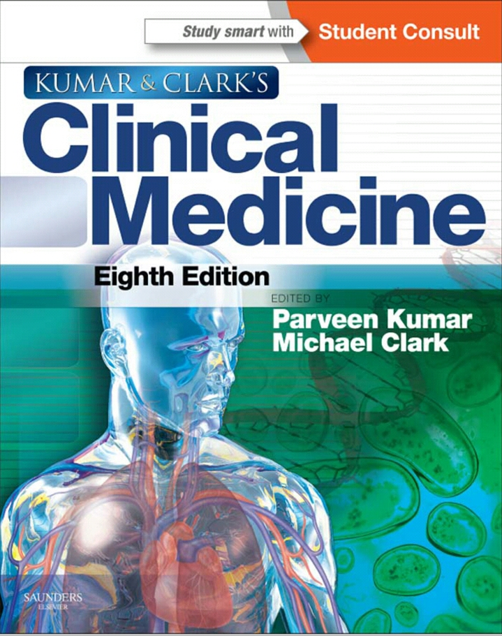Book Cover: Kumar and Clark Clinical Medicine 8th  Edition