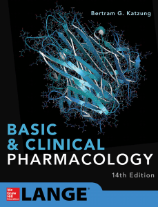 Book Cover: Basic and Clinical Pharmacology 14th Edition