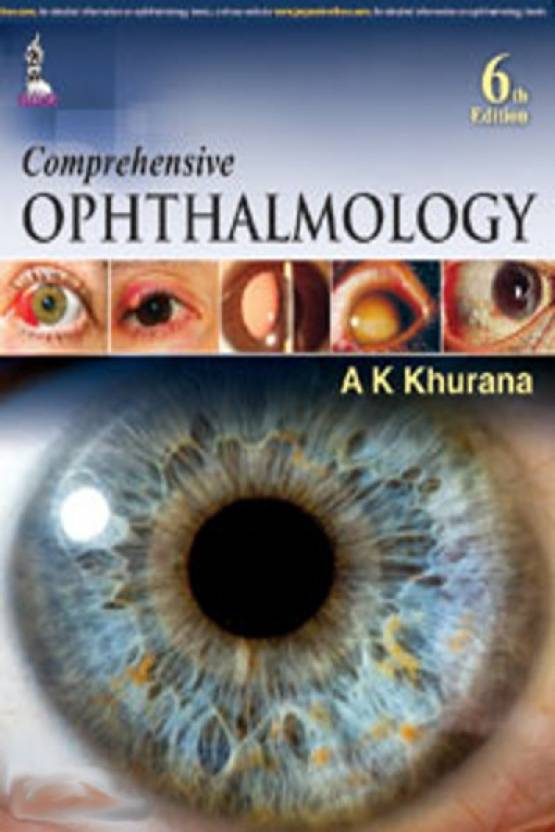 Book Cover: Comprehensive Ophthalmology by A.K. Khurana 6th Edi