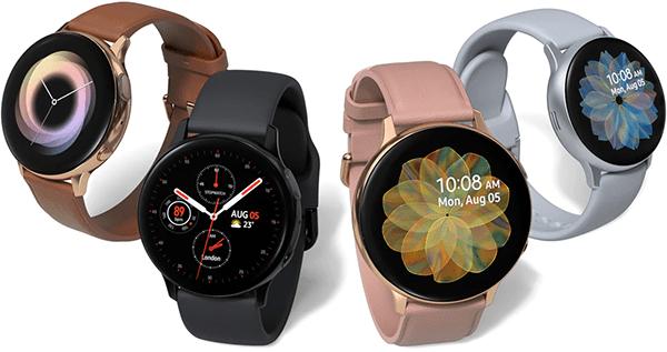 Samsung galaxy watch active2 acier aluminium