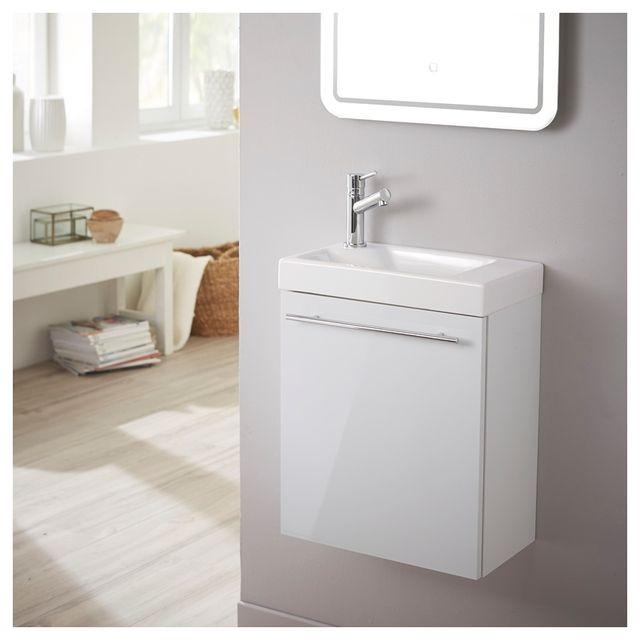 planetebain meuble lave mains design blanc laque pour wc
