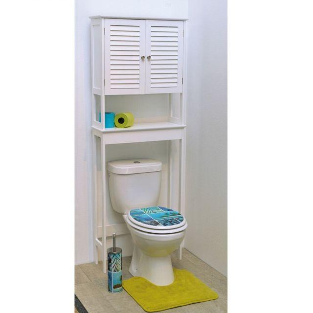 meuble dessus wc 2 portes persiennes florence