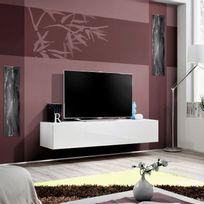 paris prix meuble tv mural design fly i 160cm blanc