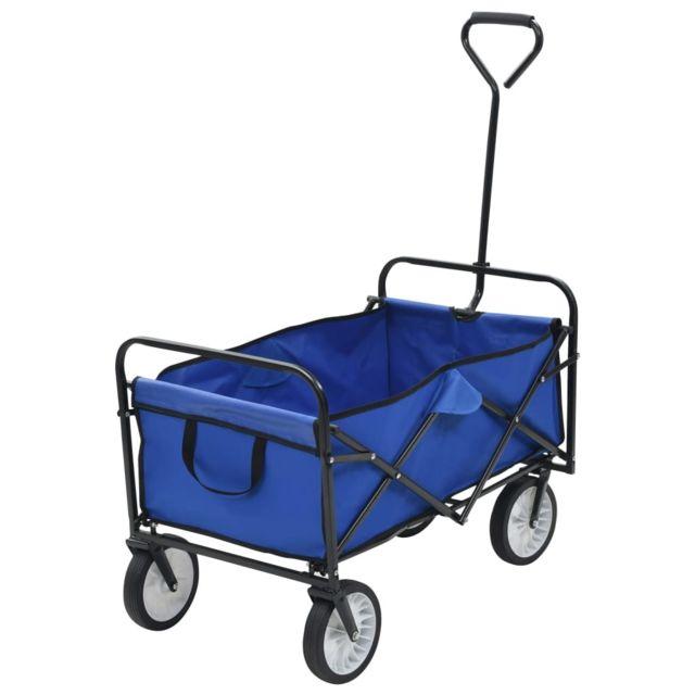Moderne Outils Famille Dakar Chariot A Main Pliable Acier Bleu Pas Cher Achat Vente Diable Chariot Rueducommerce