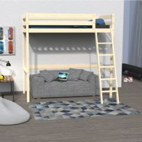 no name lit mezzanine 140x190 studio 1 sommier naturel