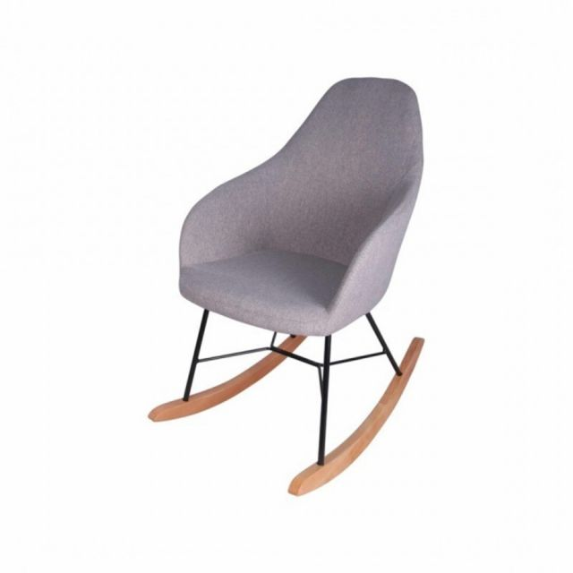 zons fauteuil a bascule taupe riza
