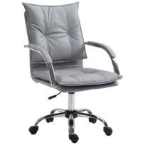 homcom fauteuil chaise de bureau manager grand confort rembourrage haute densite assise dossier accoudoirs simili