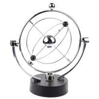 wewoo pendule balancier a bille argent decoration de bureau orbitale cinetique a equilibre magnetique