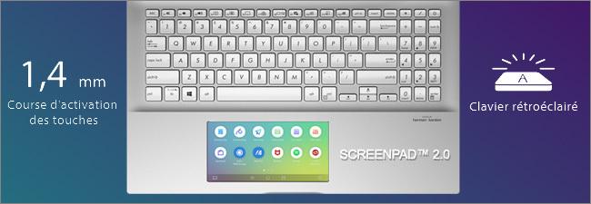 Clavier avec ScreePad 2.0