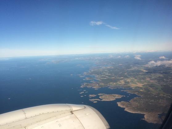 Zweden vanuit het vliegtuig