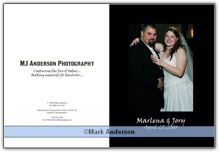 their preliminary wedding album