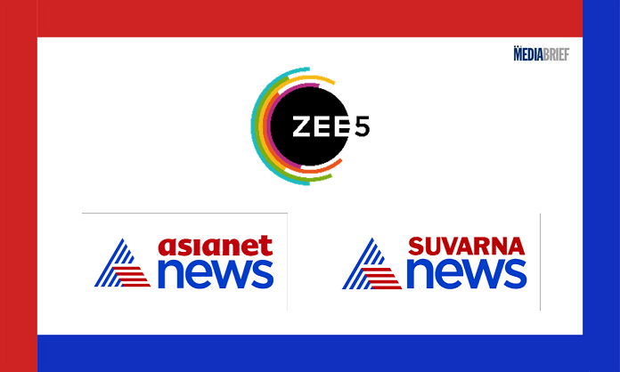 image-ZEE5 goes big with Asianet News and Suvarna News in South Mediabrief