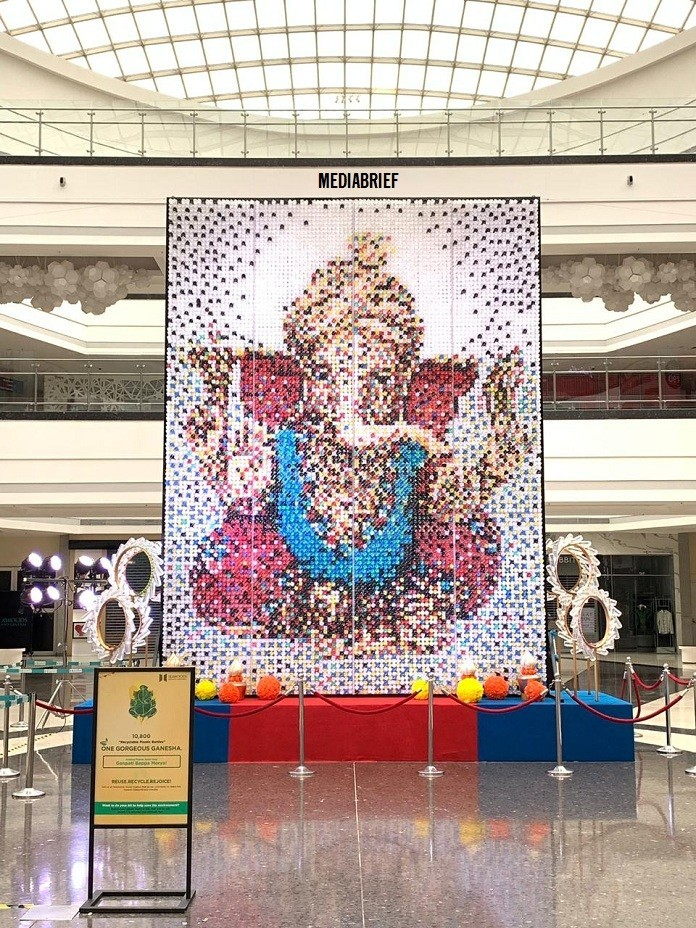 image-more-than-10800-bottles Ganpati Idol Seawoods Grand Central SGC Mall MediaBrief