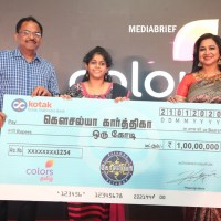 COLORS Tamil's all-womenshow KODEESWARI, creates history with its first 1-Crore winner!