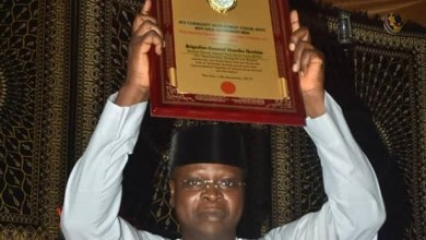 Photo of NYSC DG bags award for his contribution to National Integration