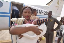 Photo of NAF airlifts conjoined twins as humanitarian gesture