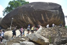 Photo of Olumo Rock natural fortress during inter tribal warfare