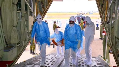 Photo of NAF trains nurses on aeromedical evacuation of Covid-19 patients