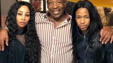Photo of Khanyi Mbau and Lasizwe's dad has passed on