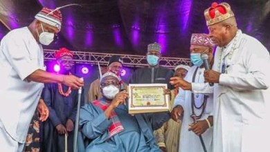 Photo of Ahmed Lawan Bags High Chief Title in Abia State