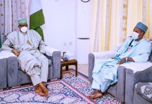 Photo of Gov Masari Updates Buhari on Abducted School Children