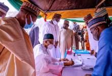 Photo of Photos: Buhari Revalidate His APC Membership Status In Katsina