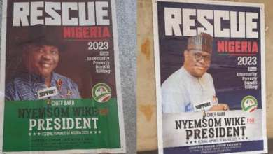 Photo of Wike joins presidential race as campaign poster surfaces in Abuja