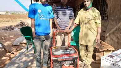 Photo of Kishi Youth Forum Donates Generator To NIMC Office