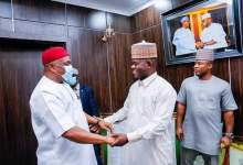 Photo of Senator Orji Visits Yahaya Bello