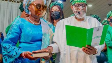 Photo of Akeredolu Sworn-in for Second Term as Governor
