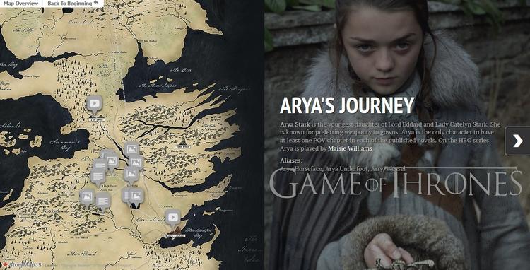 Une carte, une histoire, un voyage.