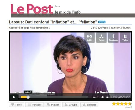 "Le buzz de Rachida Dati et sa ""fellation"""