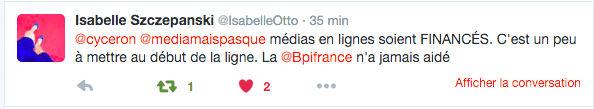 Twitter - Isabelle Otto