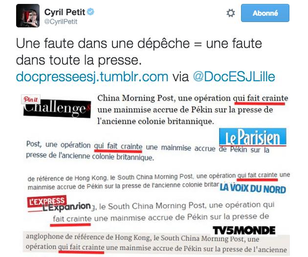 La redondance des informations en un tweet - mediaculture.fr