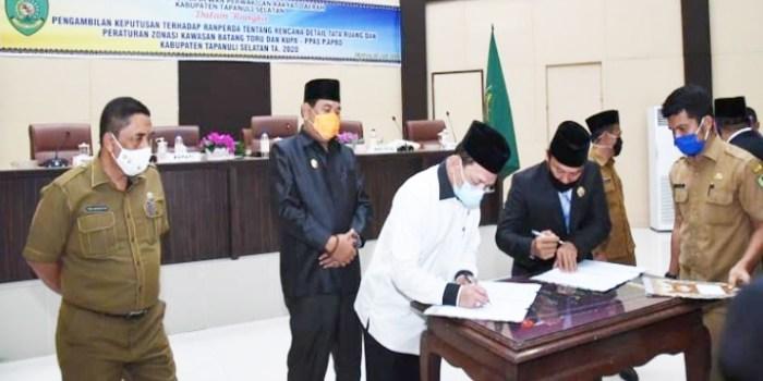 DPRD Setujui RDTR Zonasi Kawasan Perkotaan Batang Toru