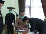 Wakil Bupati Jimmy Sihombing Lantik Tiga Pejabat Pemkab Dairi