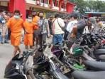 40 Unit Sepadamotor Barang Bukti Ada di Polsek Sanggulung