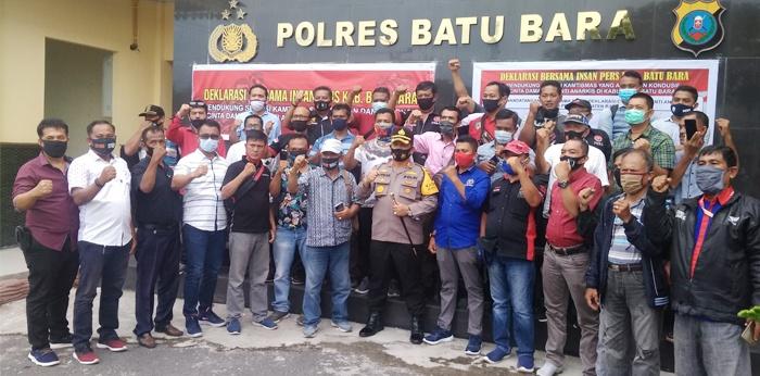 Insan Pers Teken Deklarasi Bersama Polres Batubara