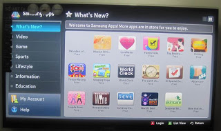 UA40D5900VR Samsung Smart TV Apps