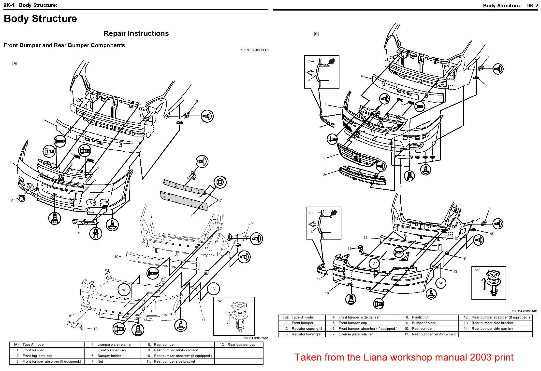 Service Manual How To Remove Rear Bumper Suzuki