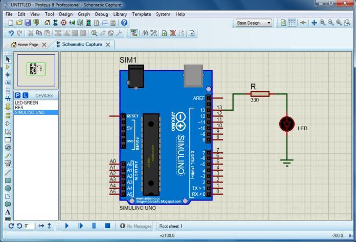 Mạch mô phỏng Arduino trên Proteus