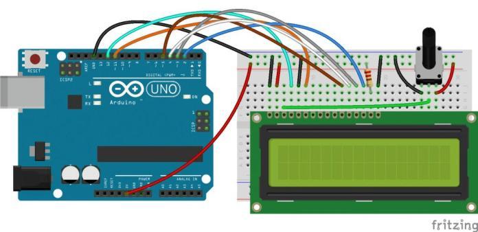 Thiết lập màn hình LCD trên Arduino