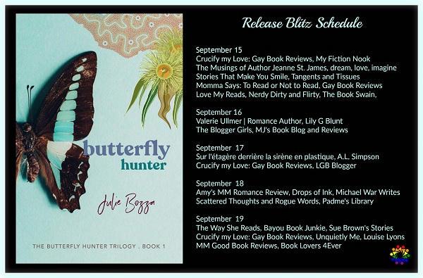 Julie Bozza - Butterfly Hunter SCHEDULE