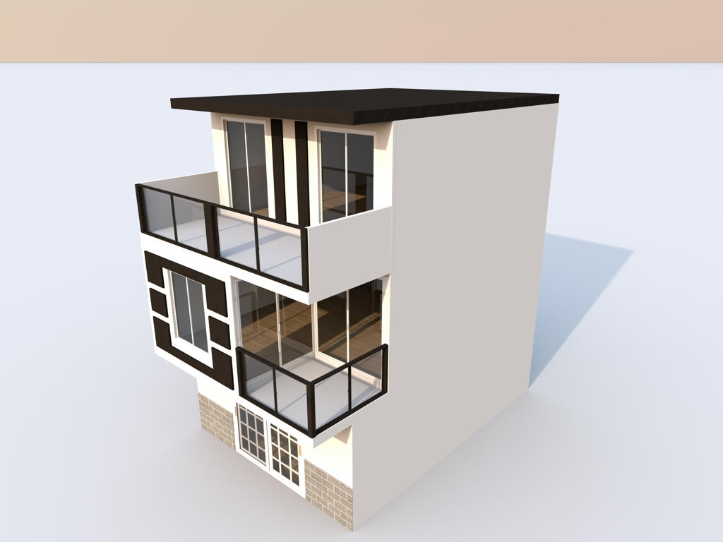 Exterior A Two Story House Sweet Home 3D Forum View Thread | 2 Story House With Stairs Outside | Dark Grey | Traditional | Roof Terrace | Unique | Covered Deck