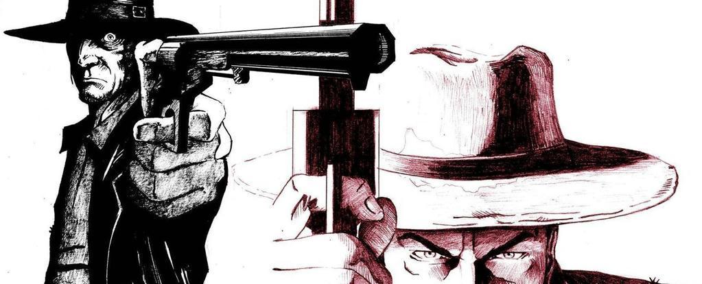 Un disparo en el desierto.-Comic de José Carlos García.