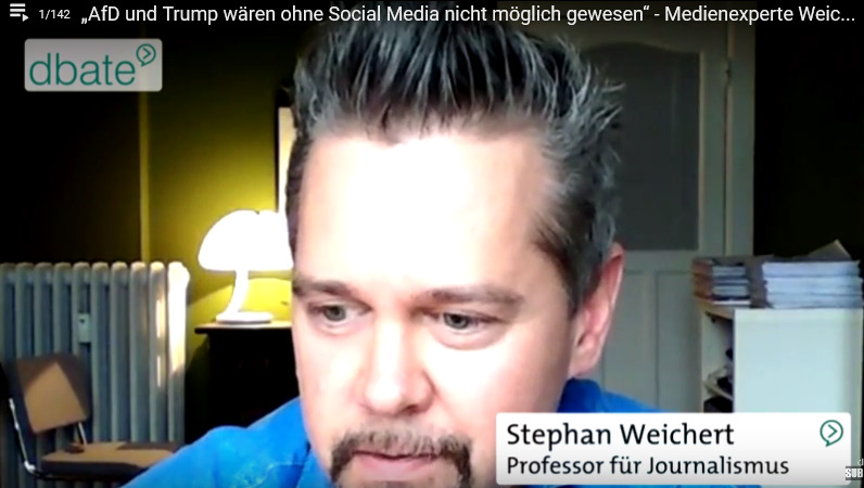"""""""AfD und Trump wären ohne Social Media nicht möglich gewesen"""" – Medienexperte Weichert"""