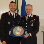 Il campione del K1-Fight  vicebrigadiere Vittorio Iermano, in forza alla compagnia dei Carabinieri di Alassio